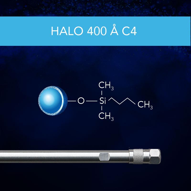 HALO® 400 Å C4 Column for Protein Separation